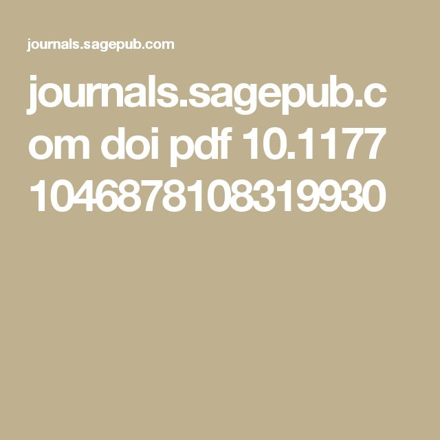 journals.sagepub.com doi pdf 10.1177 0193723510396665