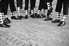 Pattern socks for the gents .. black and white... vintage style... #sil #socksforafrica #thesockilove