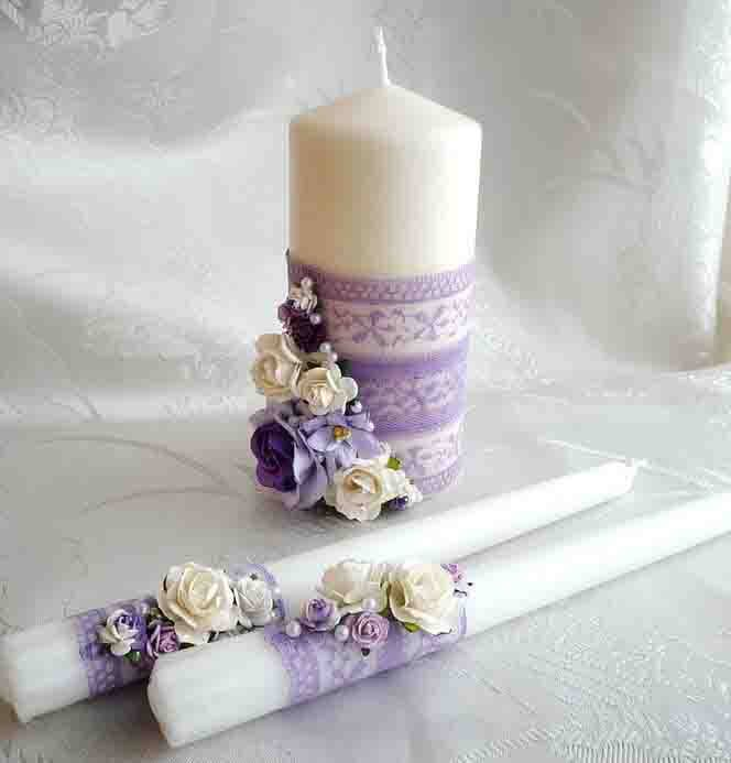 decorated candles - Candle Decorations
