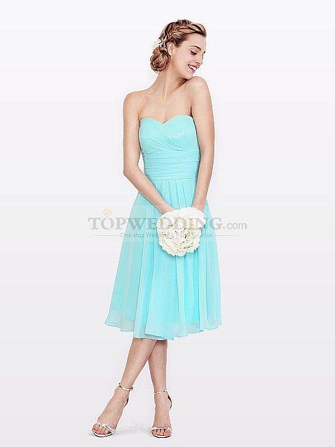 Short tiffany blue dress at #TopWedding