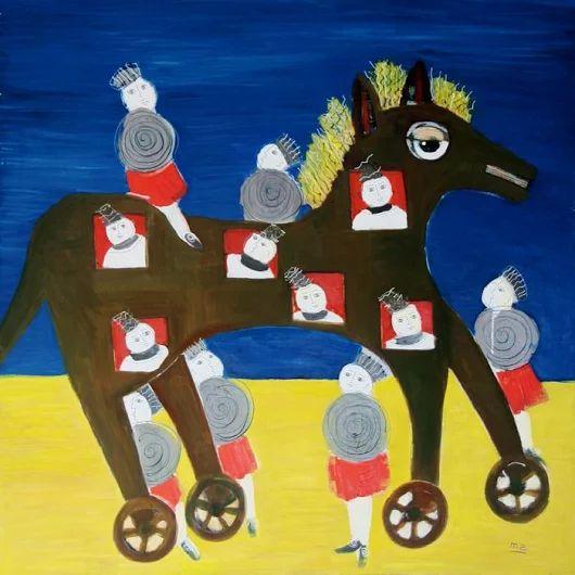 Peinture de l'artiste Maryse Astolfi, exposée à la Galerie Polysémie à partir du 3 septembre.   Painting of the ariste Maryse Astolfi, exposed in the Gallery Polysémie from 3rd of September on.