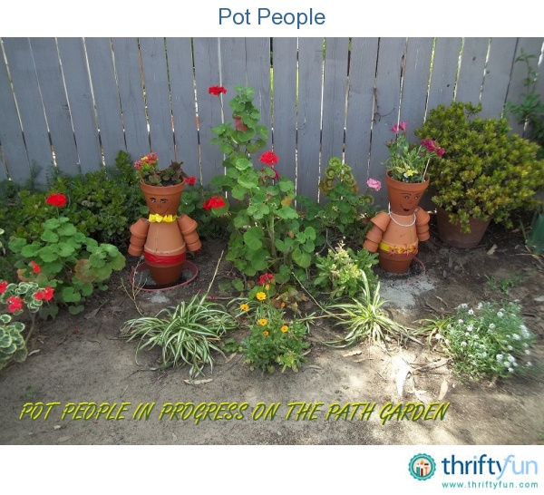 This is a work in progress for the Path Garden. We started the project and had to stop due to rain. We made a few mistakes along the way, but we're having fun in the meantime.: Projects, Gardening Idea, Flower Pot, Tips, Pot People, Cotta Can, Pot Crafts, Clay Pots