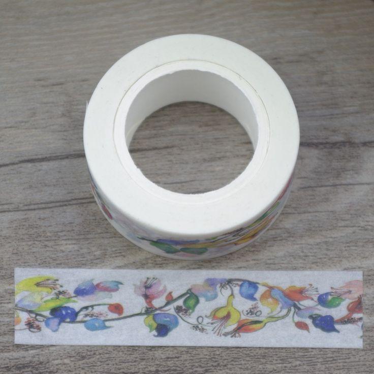 2017 New 1x Colorful Flowering Vines Floral Japanese Washi Tape Cinta Adhesiva Ruban Adhesif  Decorative Masking Tape 10M