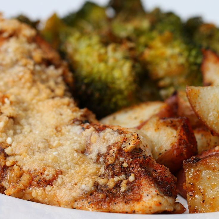 One Pan Garlic Parmesan Chicken And Vegetable Bake Recipe by Tasty