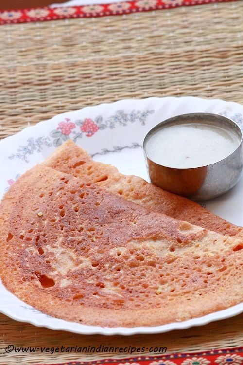 Ada dosa is a tasty South Indian dosa recipe made with rice and lentils.  Serve ada dosa with coconut chutney or with avial.  Tastes great and healthy