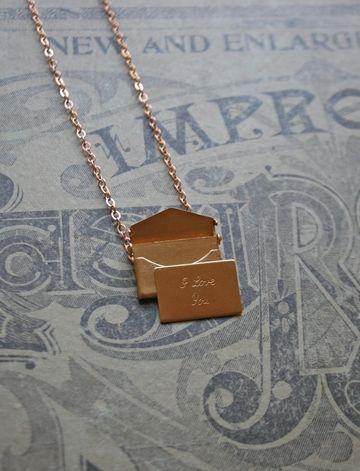 Little Love Note Love Necklace: Love Necklaces, Note Necklaces, Etsy Jewelry Necklaces, Letters Necklace, Etsy Necklaces, Love Notes, Jewels Necklaces, Cute Necklaces, Love Letters