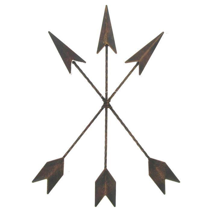Hobby Crafts & Decor - Cast Iron Native American Arrow Wall Decor