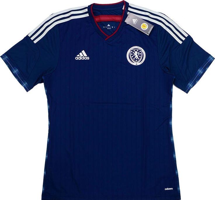 2014-15 Scotland Player Issue Adizero Home Shirt *BNIB* - New Shirts - Clearance - Classic Retro Vintage Football Shirts
