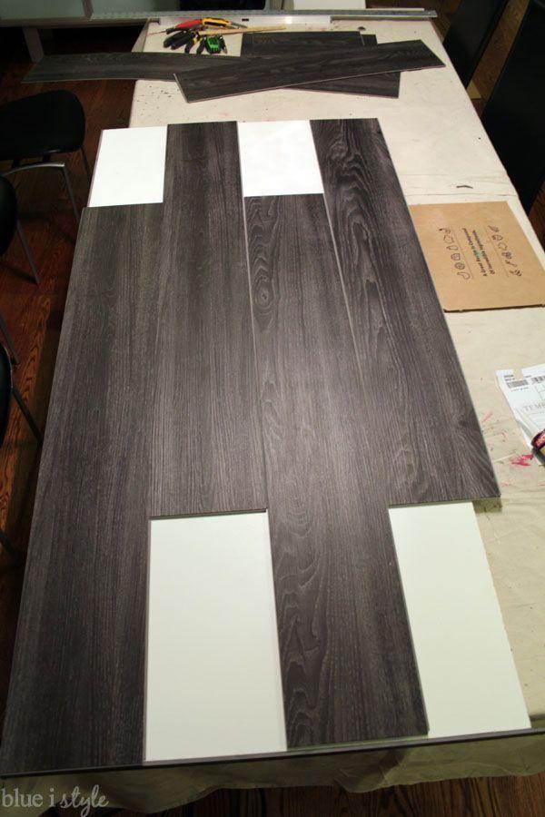 Diy Wood Plank Laundry Room Countertop Diy Wood Plank Laundry Room