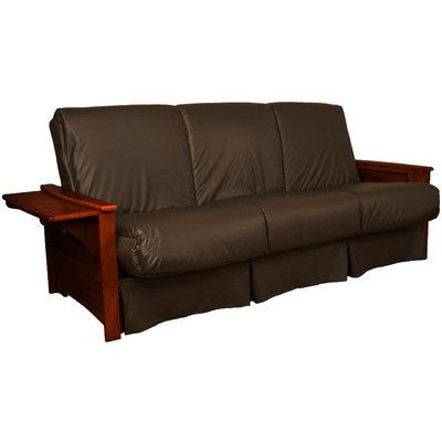 Valet Perfect Sit and Sleep Futon and Mattress Leather Type: Faux Leather - Brown, Size: Full, Finish: Mahogany - http://delanico.com/futons/valet-perfect-sit-and-sleep-futon-and-mattress-leather-type-faux-leather-brown-size-full-finish-mahogany-659775375/