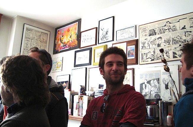 """Da """"Buon Compleanno , GIORGIO!"""" -19 ottobre 2010- illustrazione corale, dedicata a G.Cavazzano.  Vedi il reportage di Luca Boschi (n°2): http://lucaboschi.nova100.ilsole24ore.com/2010/10/24/giorgio-cavazzano-la-consegna/"""