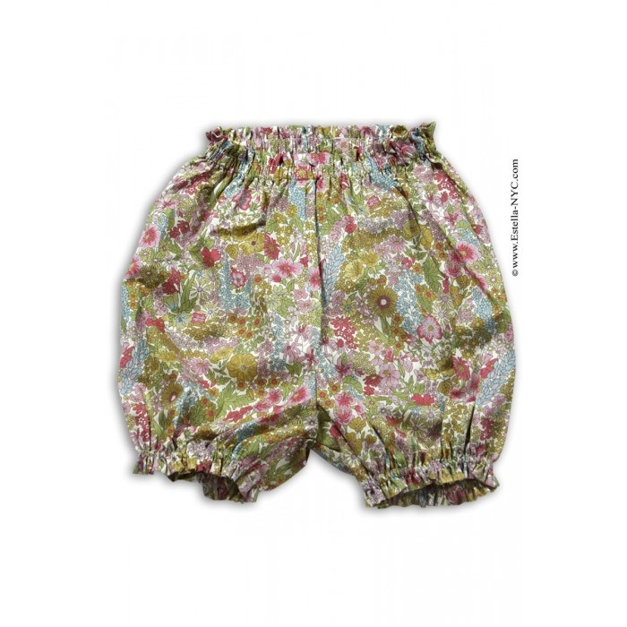 Bon Bon Baby Girls Khaki Floral Liberty Bloomers scream spring! @Estella B-NYC