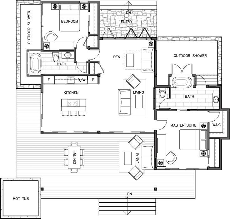 Kauai Kit Home Beach House Floor Plans Cottage House Plans House Plans
