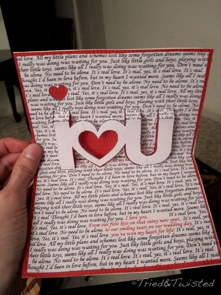 DIY Pop-Up Valentine's Day Card via Tried & Twisted
