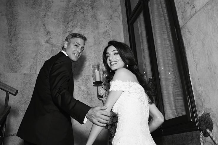 George Clooney Wedding Pictures With Amal Alamuddin | POPSUGAR Celebrity