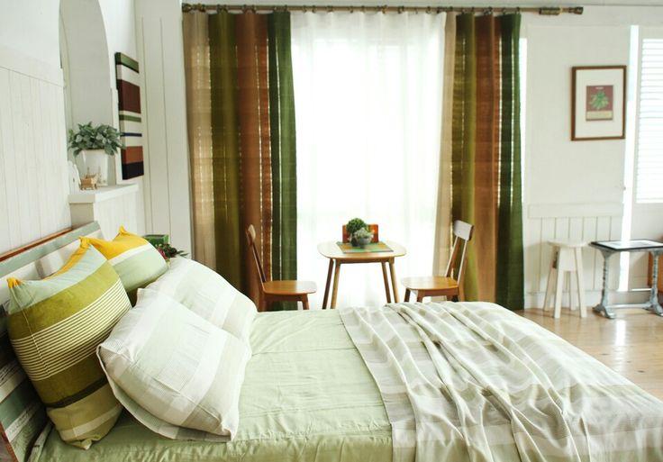 Green-bed spread and curtain by origo korea