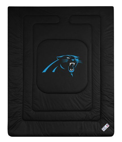 NFL Carolina Panthers Locker Room Bed Comforter - Twin  http://allstarsportsfan.com/product/nfl-carolina-panthers-locker-room-bed-comforter/?attribute_pa_size=twin  Screen printed team logo Soft and machine washable 100% polyester top
