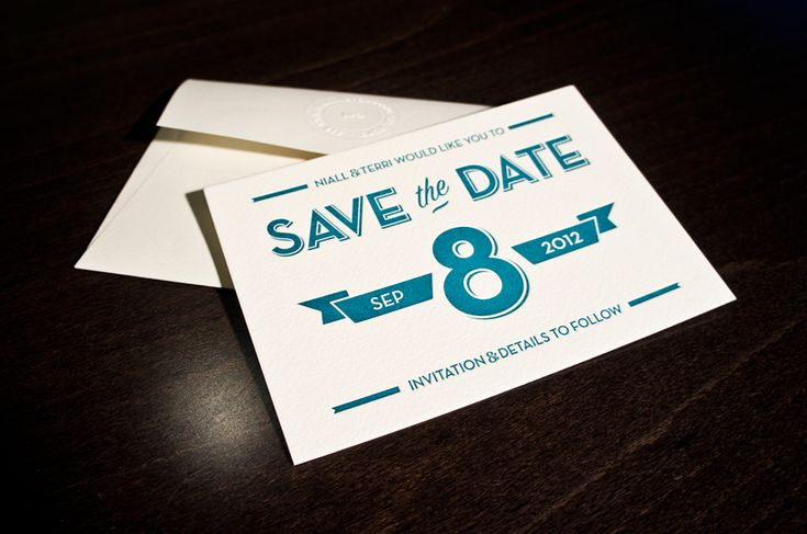 Save the Date - Niall Staines - Design & Digital Art Direction, printed by blush°°