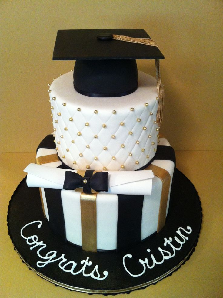 Graduation - A friend brought me a picture of a cake she really liked and wanted me to replicate it.  Thanks if you are on CC.  It was really fun to make!