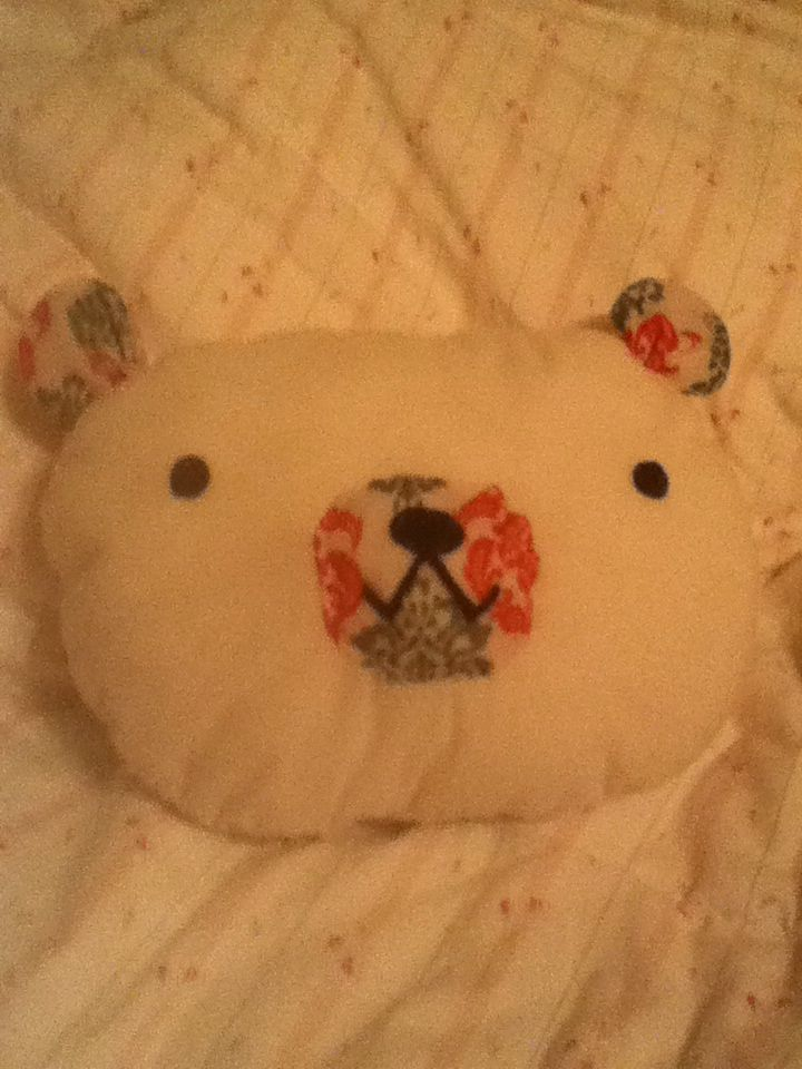 A cute bear pillow