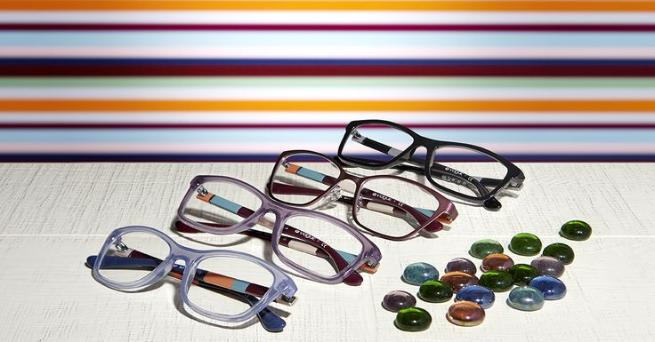Chic in stripes every day | Check out the #Colorbands optical collection @ http://vogu.ee/wc6z |
