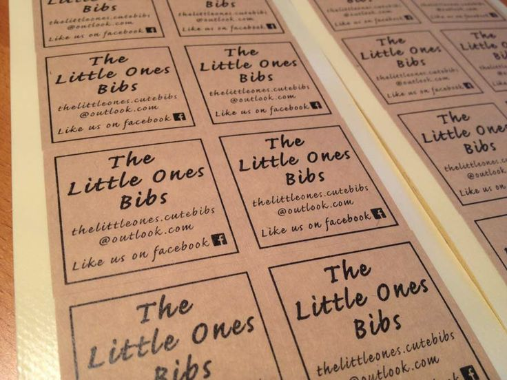Kraft paper labels for The Little Ones Bib.