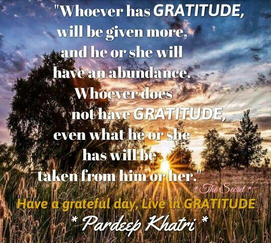 Live in Gratitude.