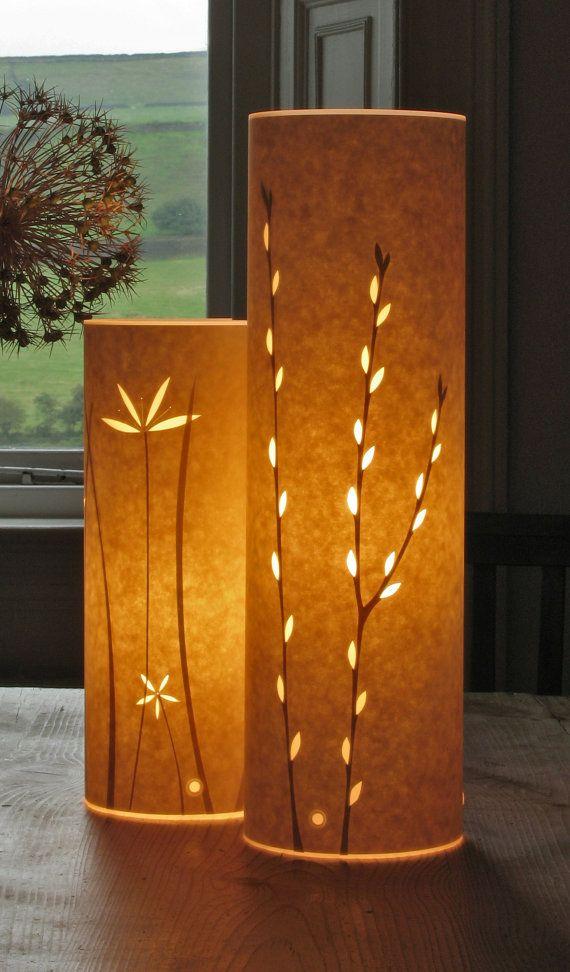 Tall Catkins Table Lamp By Hannahnunn On Etsy