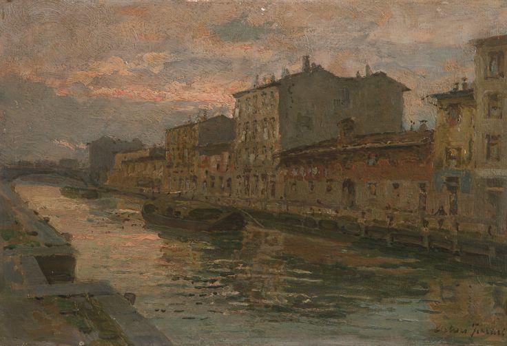 Arturo Ferrari, Naviglio di Pavia alla Conchetta. #pittura #collezioneBPM