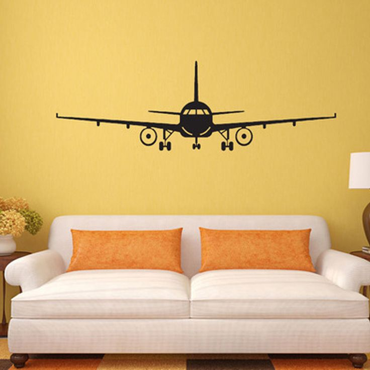 3D Airplane Wall Stickers Muraux Wall Decor Airplane Wall Art Decal Decoration Vinyl Stickers Removable Airplane Wallpaper