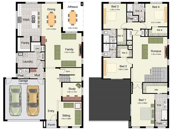 the amora 348 offers a spacious and luxurious double storey family home building planshouse - Two Storey House Plans