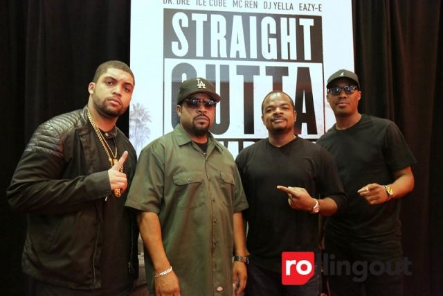 Ice Cube hits Atlanta red carpet with 'Straight Outta Compton' cast  O'Shea Jackson Sr. and Jr., F. Gary Gray attend the 'Straight Outta Compton' VIP screening at Regal Studios Atlantic Station in Atlanta (Photo by Robin Lori for Steed Media Service)