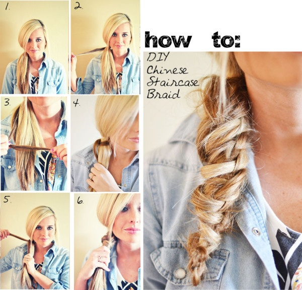 """how to: chinese staircase braid - a simply hairstyle"" by the-hipster-tip-sisters ❤ liked on Polyvore"