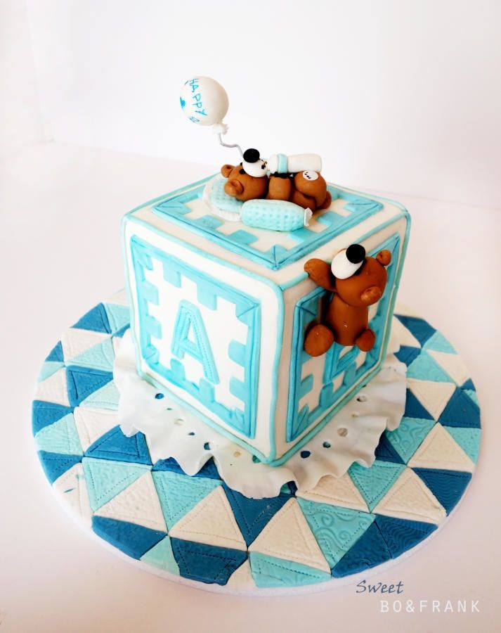 BABY BOY CAKE - Cake by sweetBO