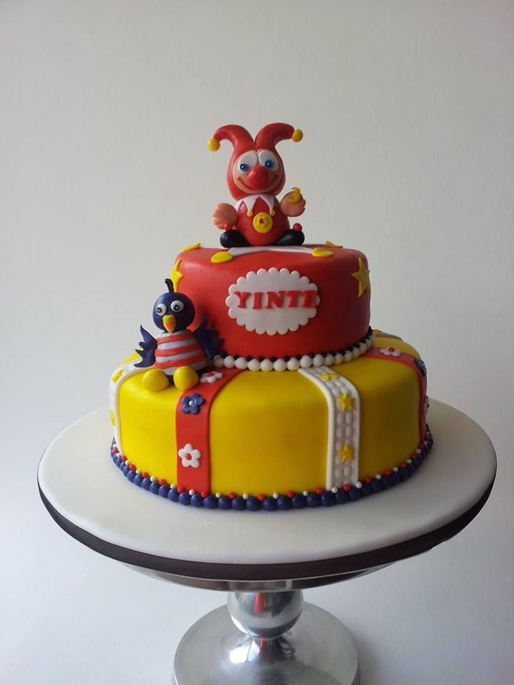 Deze gave Jokie en Jet taart is gemaakt door Marjolein van Riel-Happel.