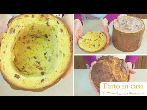 Panettone ripieno di Gelato | Panettone Ice Cream Cake (come riciclare un panettone) - YouTube