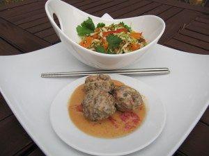 Thai meatballs with slaw
