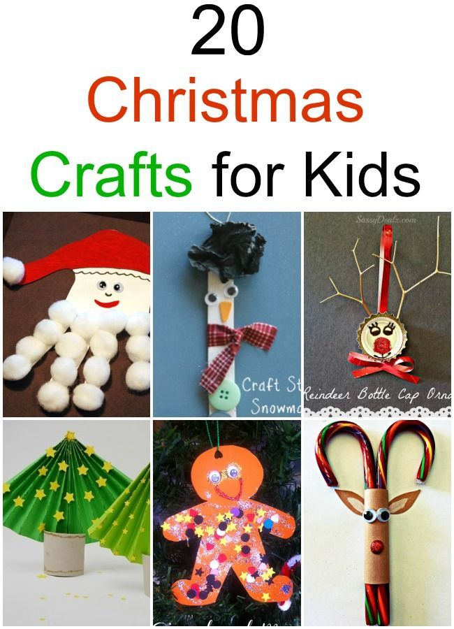 Christmas Crafts for Kids I just LOVE this collection. So easy to make and pleasing to the eye!