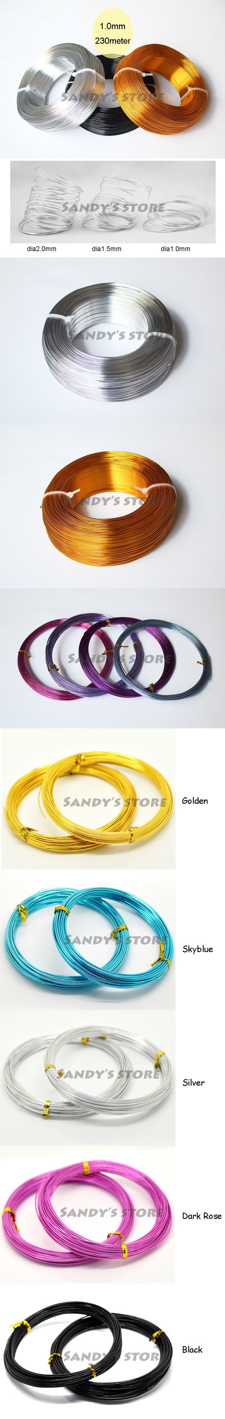 Selecting cheap wholesale-colored oxidized aluminium wire jewelry craft soft 1mm 18 gauge wire coil 230m/roll (755feet) diy decor wrap wire free shipping on DHgate.com? Here, you can find a large selection of cord & wire at cheap price and with best service.
