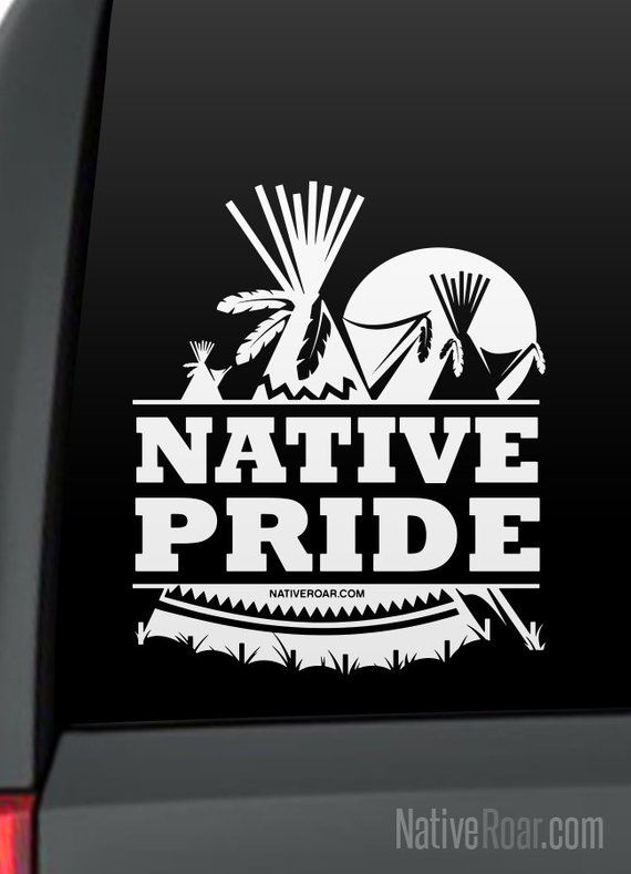 f3d841f0886 Native Pride Teepee and Moon Native American Decal (Customize with Tribal  Name) by Native Roar (Poww