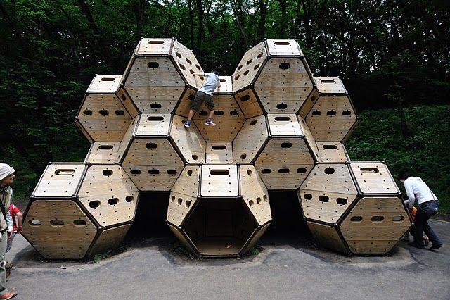 Modular Climbing Boxes, Kodomo No Kuni Park, Yokohama City, Japan - Playscapes