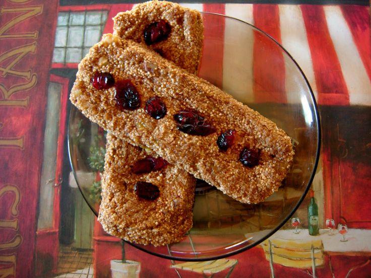 DNT: Dietetyczne bezglutenowe batony z amarantusem (bez cukru, bez tłuszczu!)