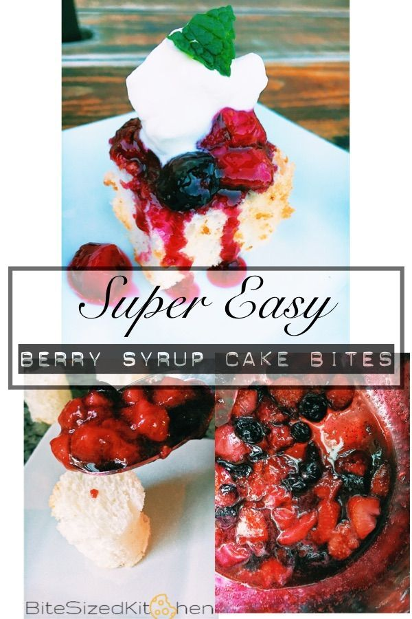 Easy dessert recipe for a crowd | Fast dessert | angel cake with berries | syrup cake | easy dessert