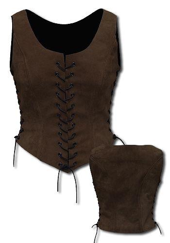 Larp woman Armor - Travelers dark brown - Women's Armor - Leather Armor - Armour