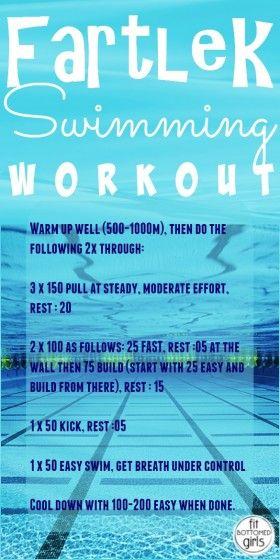 swimming fartlek workout