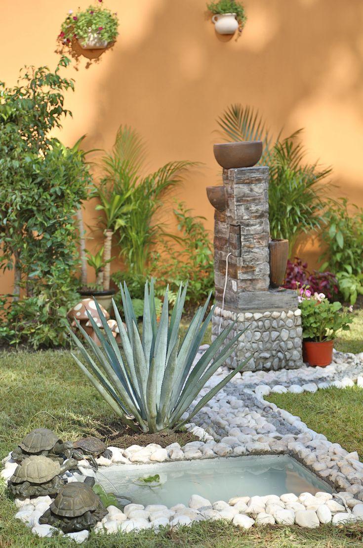Las 25 mejores ideas sobre pared para patios en pinterest - Fuentes para patios ...