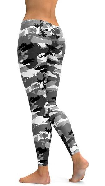 7a7f9c0ab7d8f Black & White Camo Leggings from GearBunch in 2019 | Fitness ...