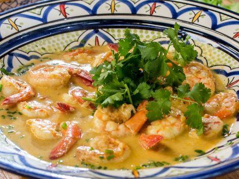Receita de camarão tailandês