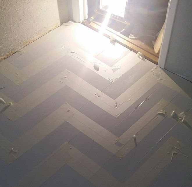 My sister Alexandra painted chevron stripes across the gustroom floor, inspired by her favorite show: Twin Peaks. She says that she felt like quiting a few times, but as soon as she got through the…