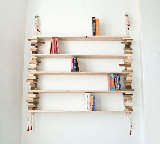 Hanging Bookshelf Creative Home Ideas Bookshelves Interiors Inside Ideas Interiors design about Everything [magnanprojects.com]